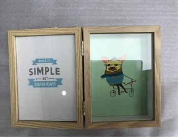 Wood Picture Framedouble 4x6 Hinged Picture Frameopening Desktop