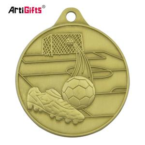 Zhongshan factory artigifts professional customized soccer trophy gold medal