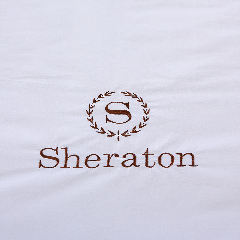 400TC Hotel Bedding Set White Cotton Bed Linen for 5 star hotel