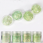 Bulk chunky green glitter powder for decoration nail polish craft birthday party