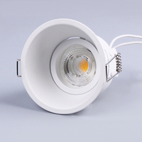 LED recessed aluminum indoor LED downlight anti glare fixed led gu10 mr16 downlight fixture