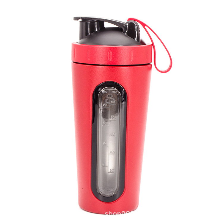 Hot sell Insulated Drinking Shaker Bottle Metal Protein Shaker Bottle 2 in 1 Shaker Bottle