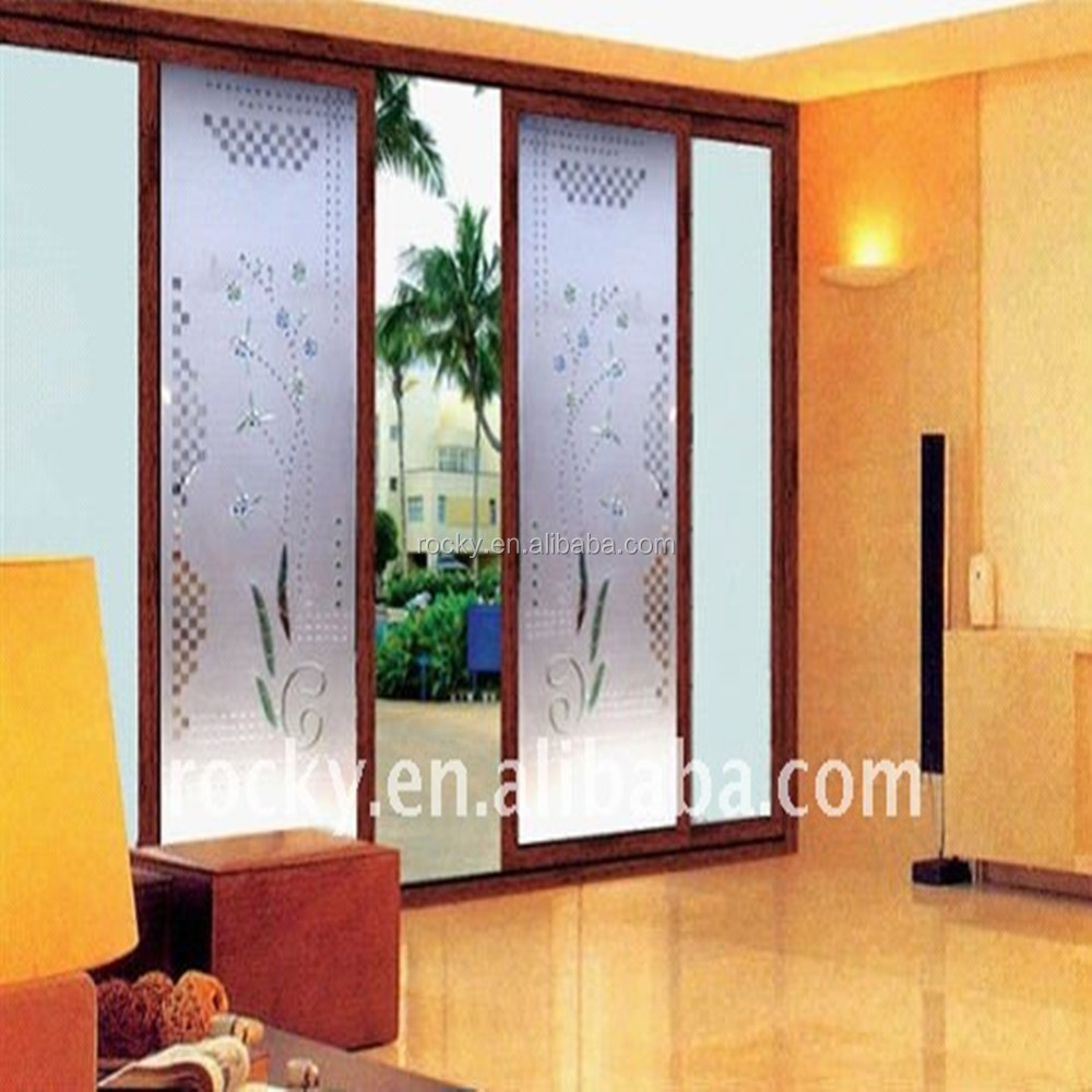 Fresh Sell 4-20mm High Quality Glass Door Thick Interior Wooden Glass  WJ33
