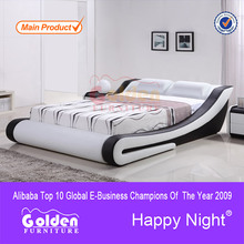 Foshan oro muebles manfuacturer wood double bed models g996