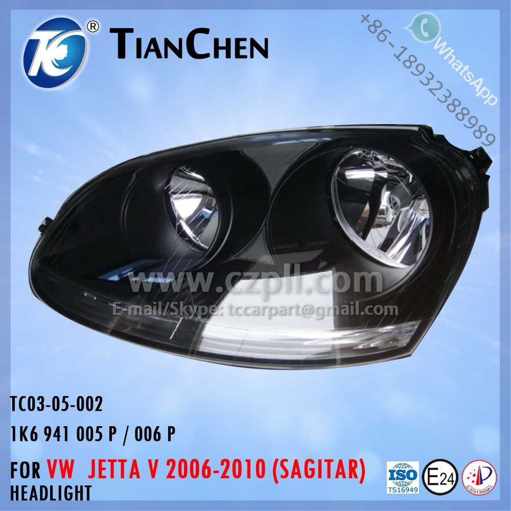 HEADLIGHT for JETTA 5 SAGITAR 2005-2009 1K6 941 005 P / 1K6 941 006 P - 1K6941005P - 1K6941006P - 1K6941005 - 1K6941006
