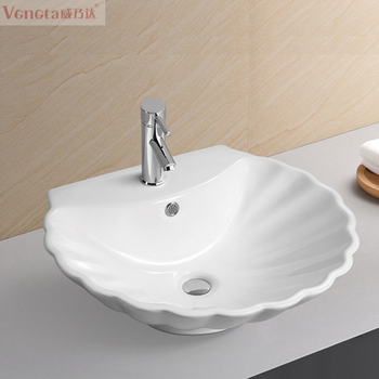 Beau Shell Shaped Bathroom Small Hand Washing Sink For Home And Hotel Use