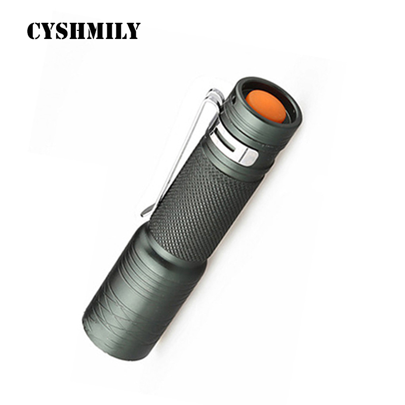 CYSHMILY Aluminum Alloy 1*14500 3 Mode Waterproof Working Spotlight Super Bright Rechargeable Mini LED Torch