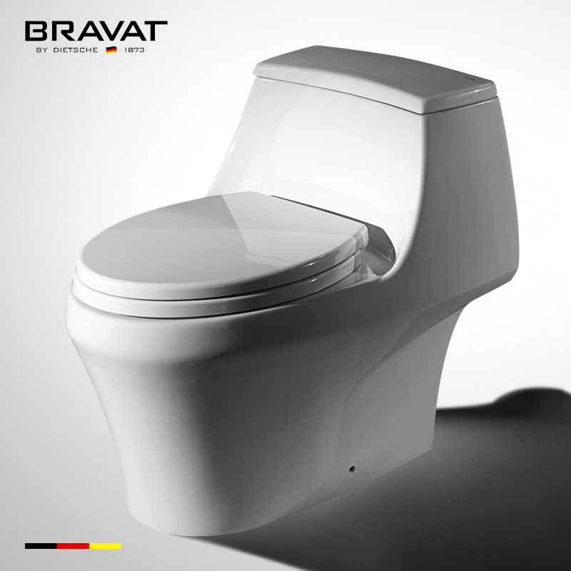 One Piece Ceramic Siphon Types Toilet Flushing Mechanisms C21120XUW 3C View Bravat Product Details From China