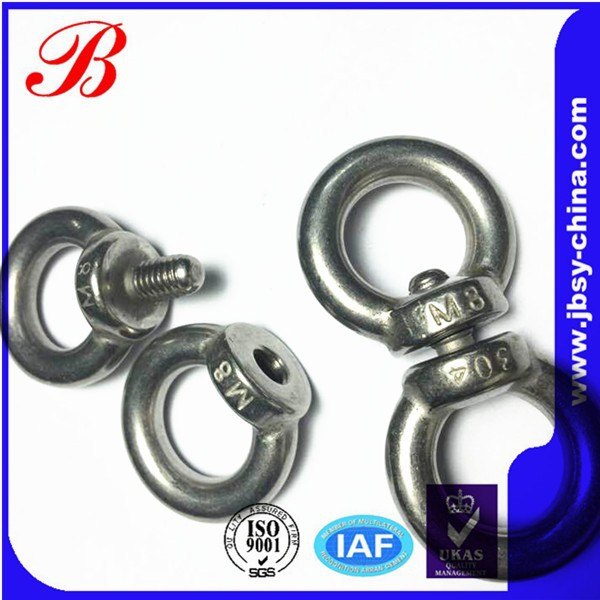 Inox 303 Stainless Steel M4 Eye Bolts,Eye Bolt And Nut