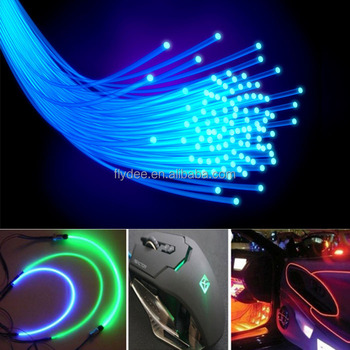 multicolor 3mm soft pmma led grow optic fiber light for car interior dashboard decoration buy. Black Bedroom Furniture Sets. Home Design Ideas