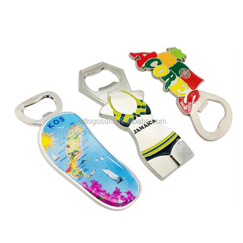 Souvenir Openers Epoxy Enamel Metal Crafts Attractive Waterscape Bottle Opener Promotional Beer Bottle Opener with Custom Logo