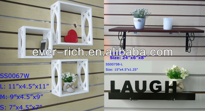 Wooden mounted Wall Shelf Display 3 Wall Cubes floating Wall Shelf/Storage