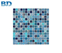1x1 Square Cheap Swimming Pool Glass Mosaic Tile