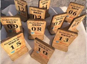 A5, A6, A4 wood reservation card menu holder menu stand wood table tent promotion menu stand KISENG