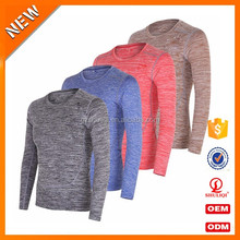 Moisture wicking thin long sleeve t shirts o-neck t shirt men fitted quality color combination t shirt S-T304