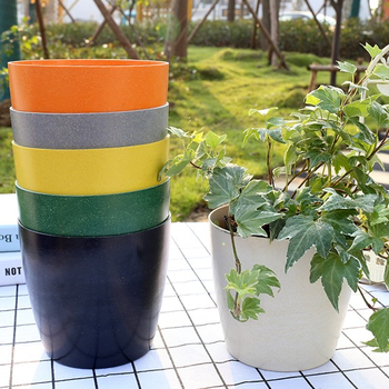 2020 China supplier hot selling Bamboo Fiber biodegradable indoor garden plant flower pot for office living room