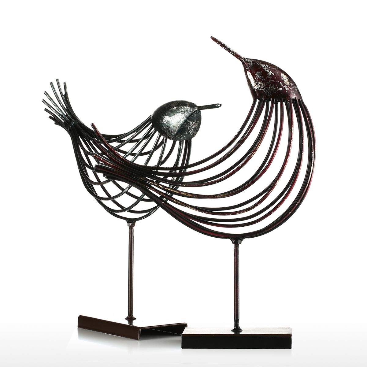 Tooarts Iron Wire Bird Metal Sculpture Wonderful Sculpture Bird Modern Artwork Favor Gift Home Decoration Decorative Decorative Decorative Home Decordecoration Home Aliexpress