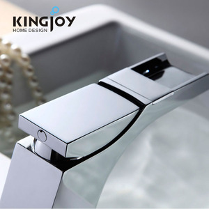 High quality sanitary hardware water tap press waterfall brass chrome excellent water faucet brands uk cascade faucet