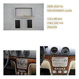 Autostereo 2 Din Radio Stereo Fascia Frame for VOLKSWAGEN Lavida 2008-2010 Car Radio Surround Car Radio Installation Frame VOLKSWAGEN Lavida Stereo Fascia Dash CD Trim Installation Kit
