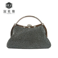 Graceful rhinestone clutch evening bags handbag for ladies