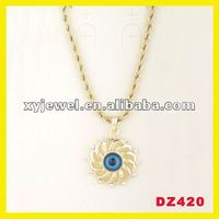 14k gold handmade evil eye jewelry pendant necklace