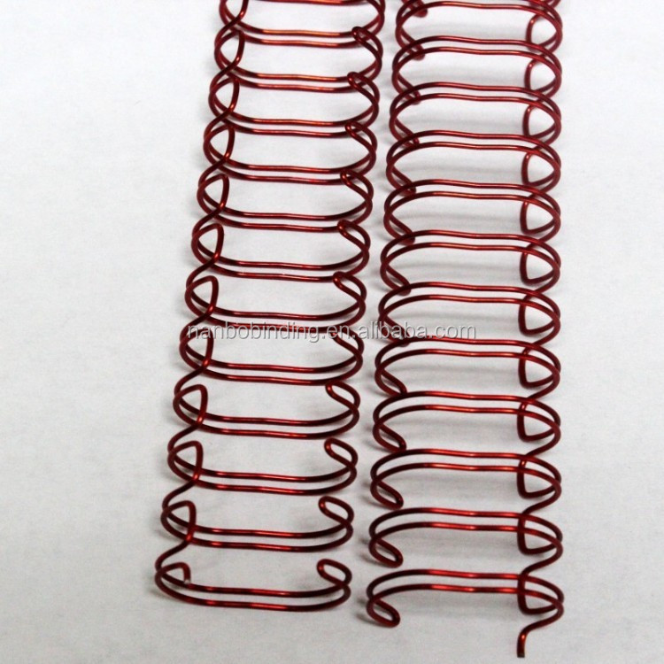 NanBo Binding Material Double Metal Spiral,Double Wire o,Notebook Binding Coil