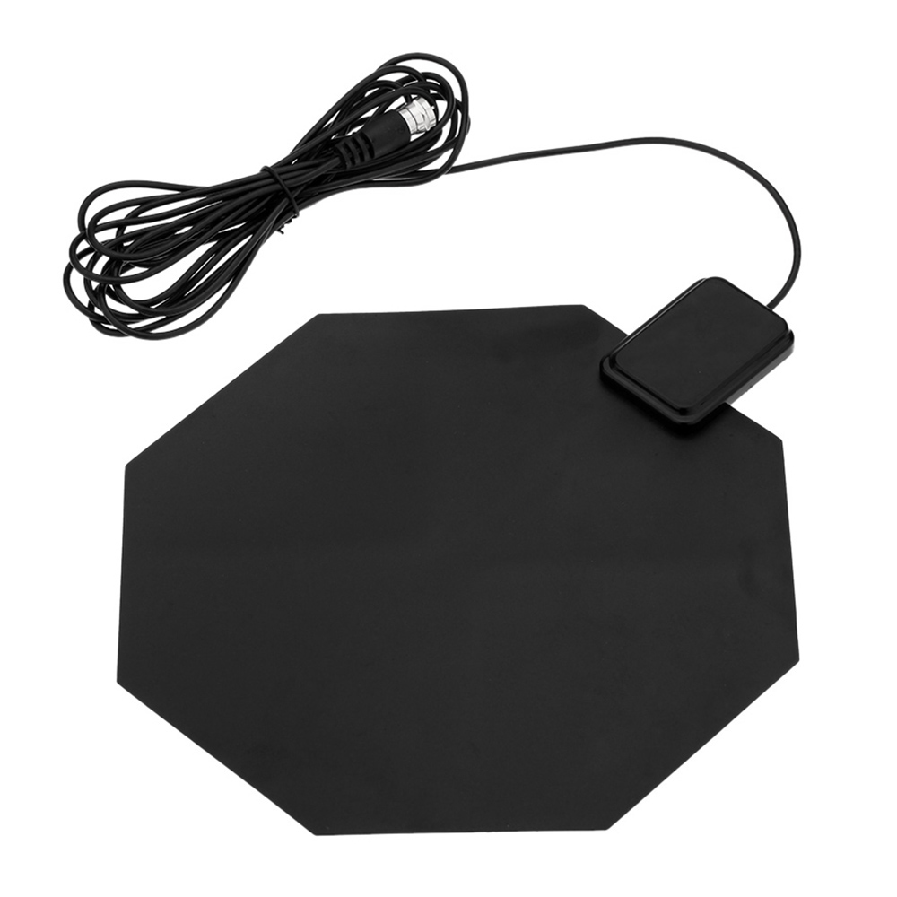 Digital Indoor HDTV DTV TV Antenna Flat Design Support Receiving VHF UHF Signals / Free Digital/Analog Signals High Gain US Plug
