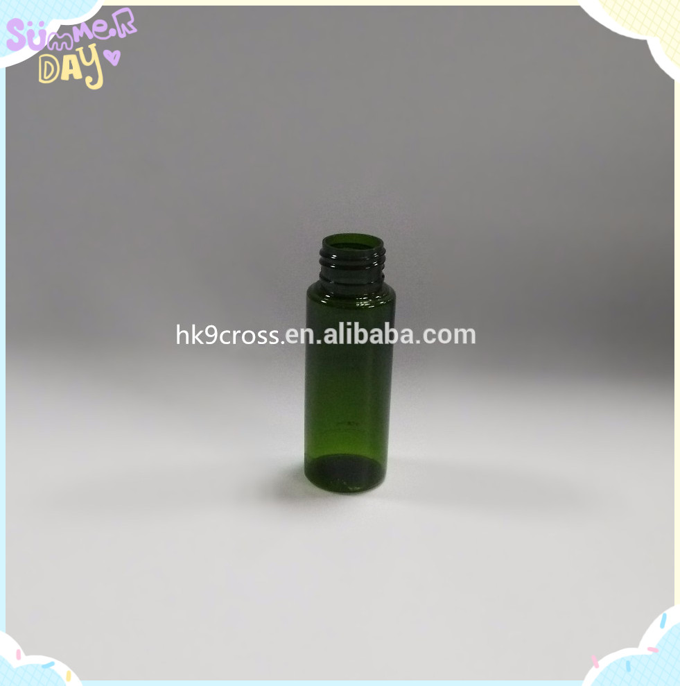 10ml 15ml 30ml 50ml Green Plastic water bottle with spray used for medical or cosmetic with low price in STOCKS