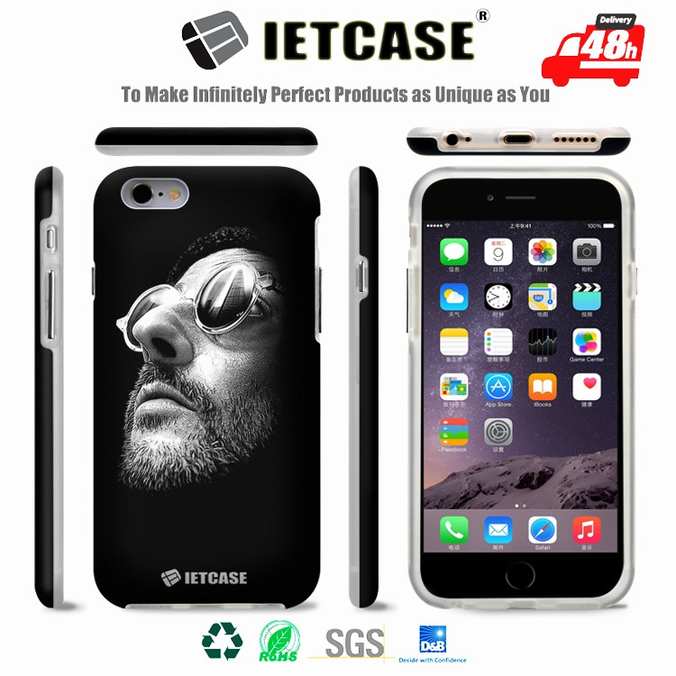 Design Your Own UV Sublimation Water Transfer Custom Printed PC TPU Phone Cover for iPhone 6 6S Plus, 3D Phone Case Printing