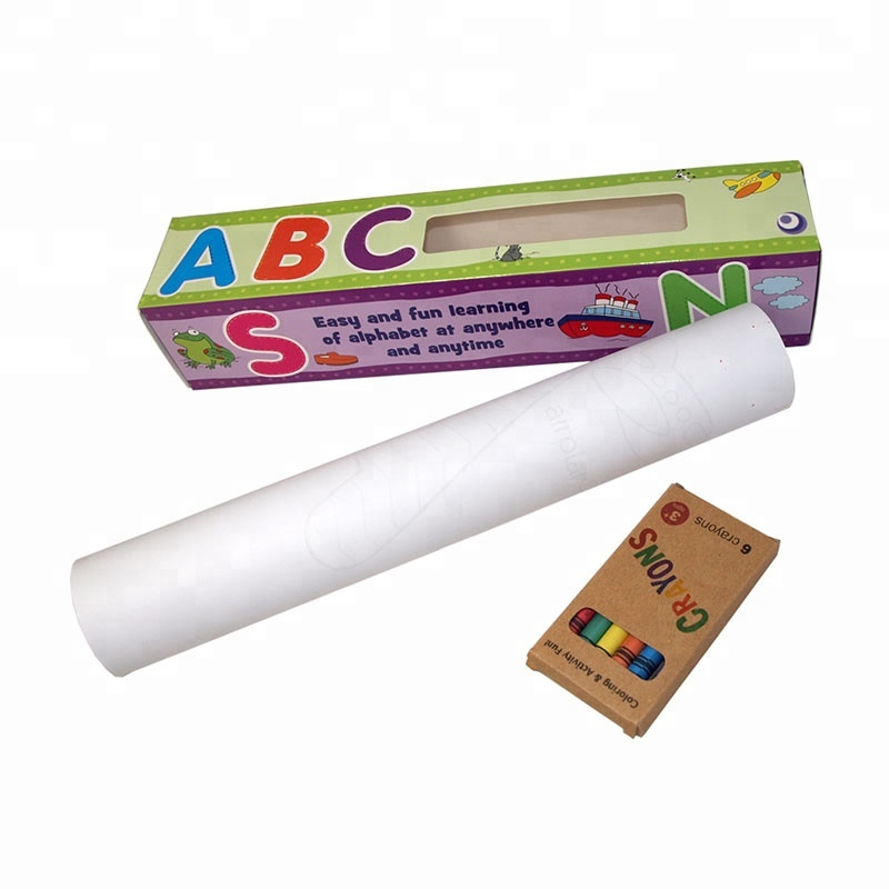 Non-toxic glue small roll professional full coloring poster <strong>printing</strong>