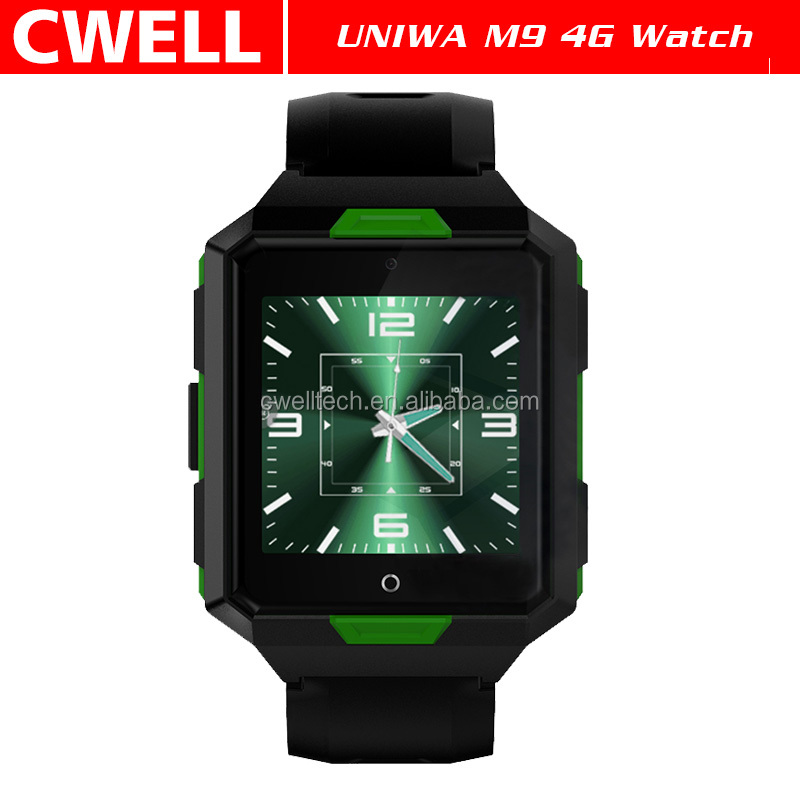 UNIWA M9 1.54 Inch Screen IP67 Waterproof Android 4G Smart Watch Phone