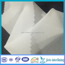 30D 100%Polyester Double Dot Fusible Warp Woven Interlining For Jackets