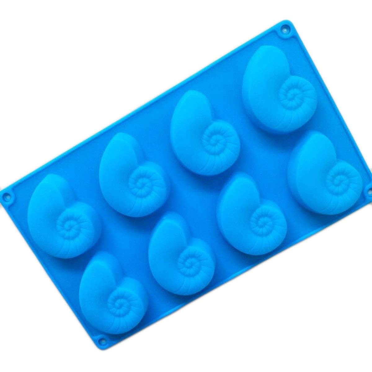 Longzang 8 Cavity Conch Silicone Mold for Cake Chocolate Panna Cotta Pudding Jelly Baking Soap molds