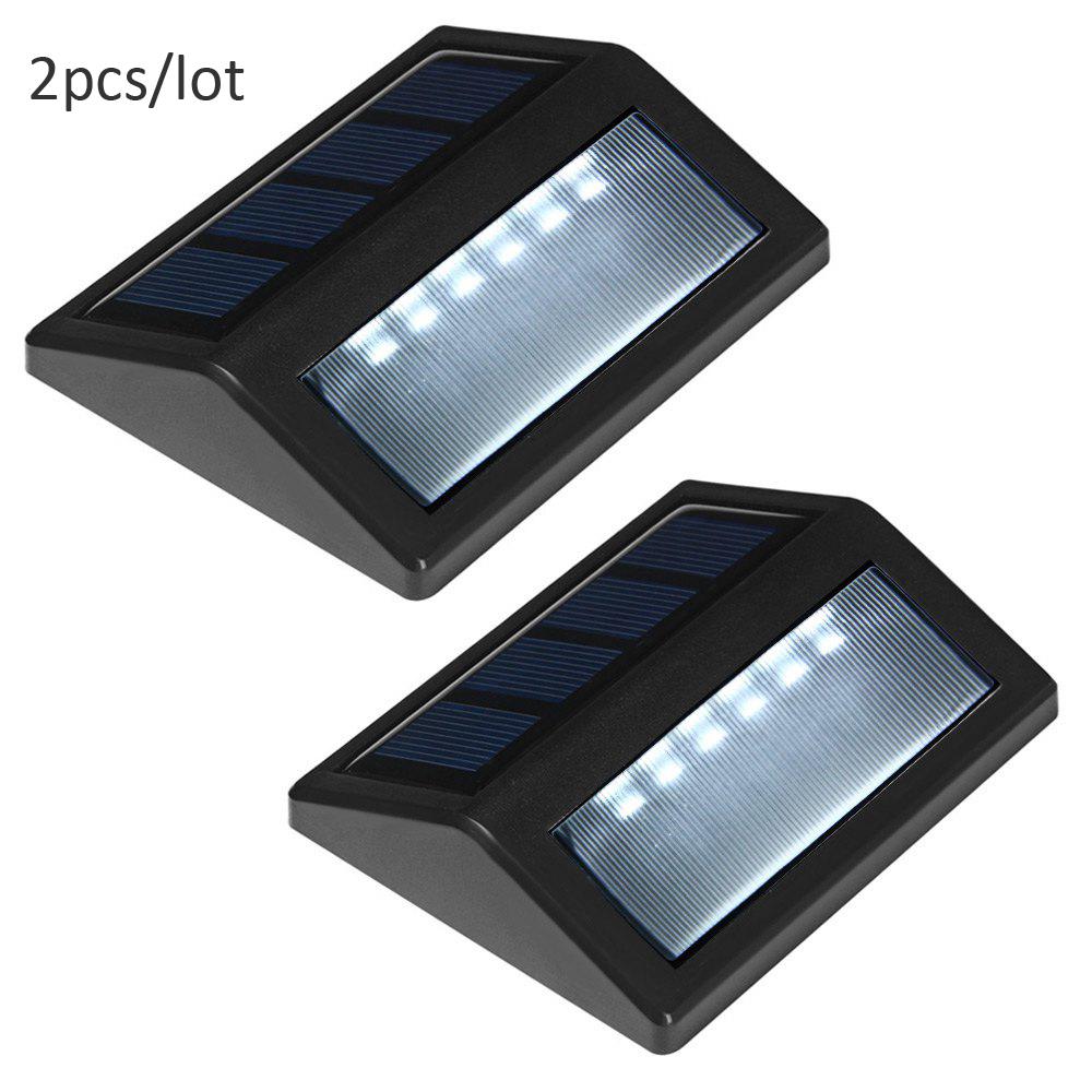 New Outdoor Garden 8 Led Solar Shed Eaves Work Light Lamp: 2 PCS LED Solar Stair Light Convert Waterproof Solar Light