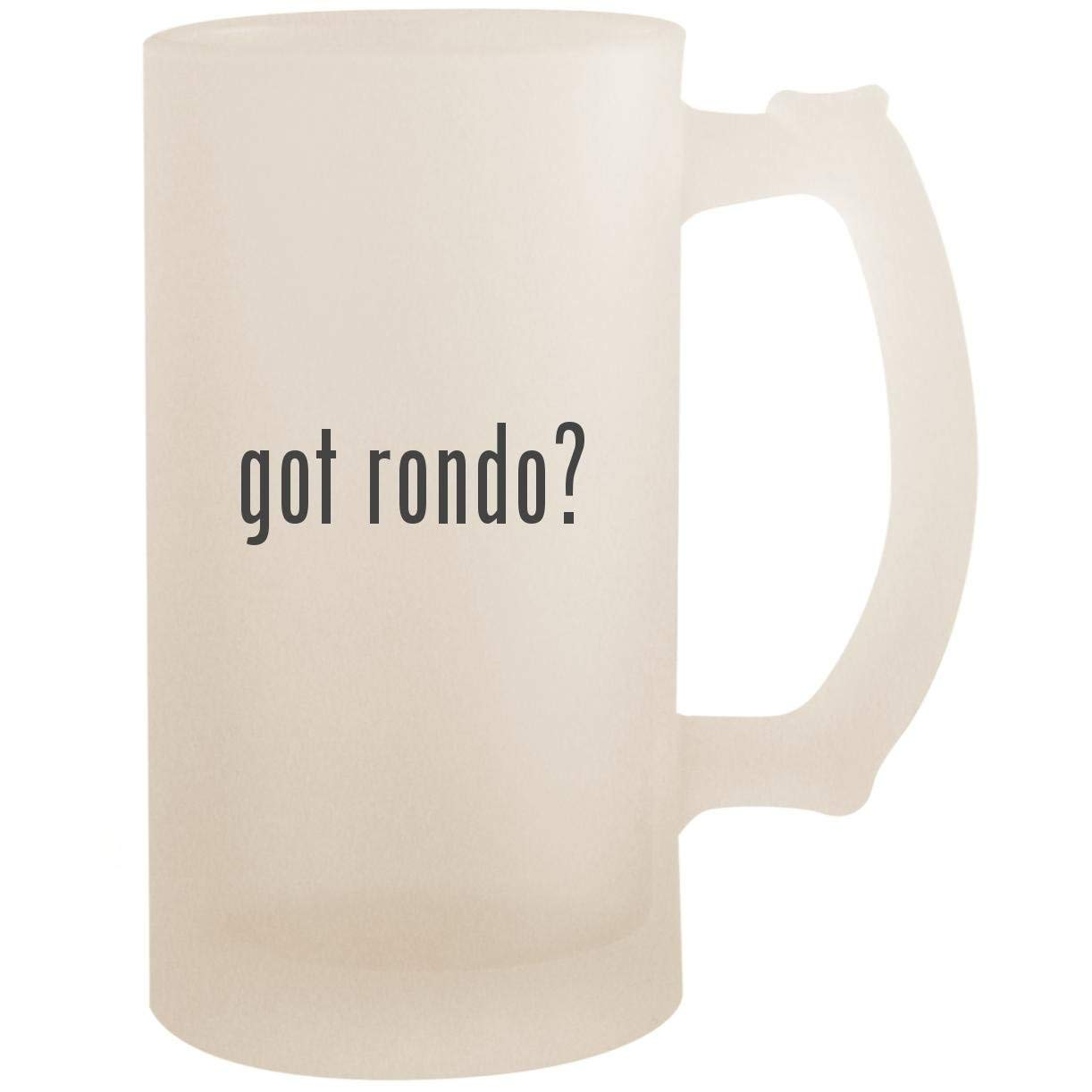 got rondo? - 16oz Glass Frosted Beer Stein Mug, Frosted