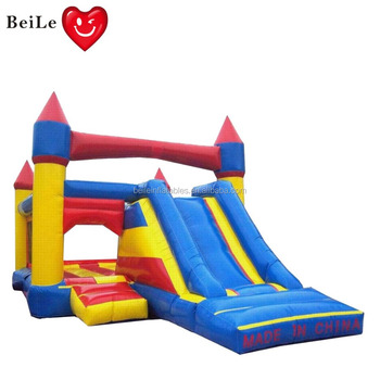 Funny inflatable bouncer and combo and small slide for kids