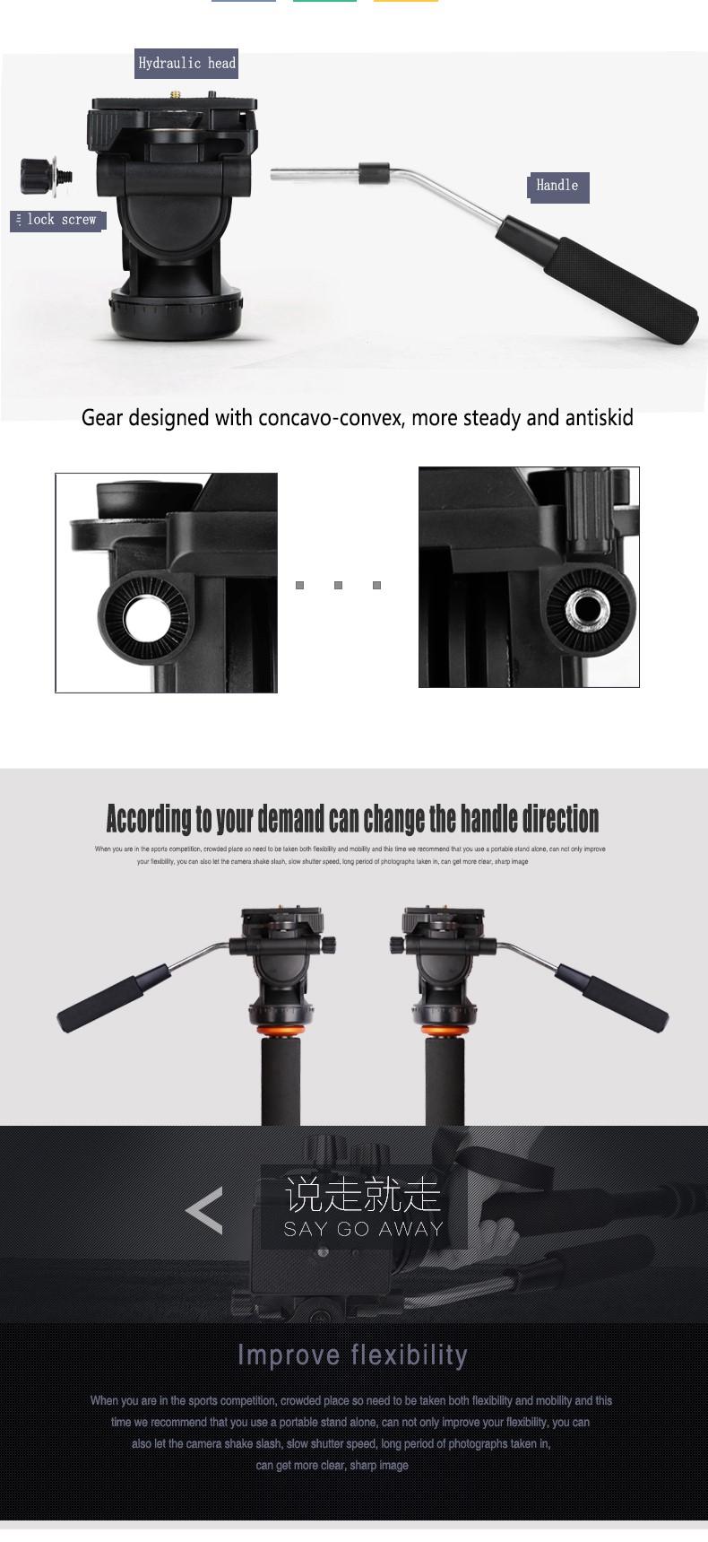 QZSD-Q238 Panhead handheld camera monopod digital and video yunteng berno OBO camera monopod photography accessories