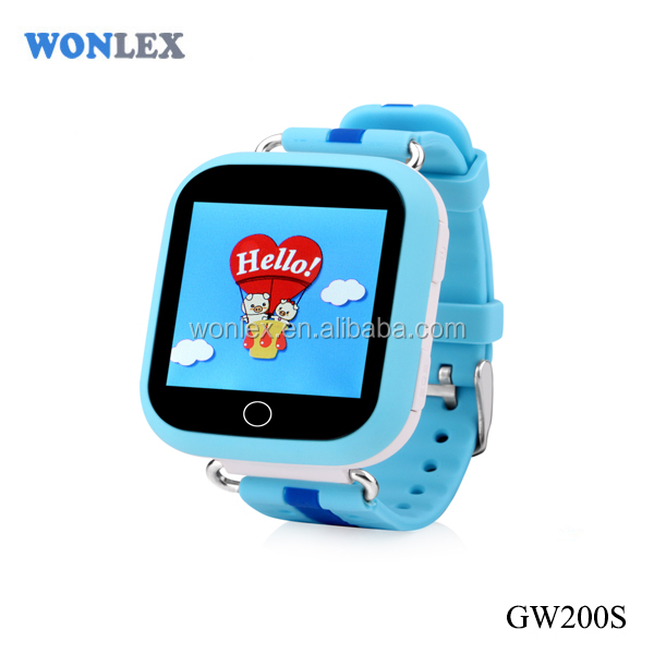Wonlex GW200S/Smart GPS tracker for Kids watch with pedometer and Customizable in china