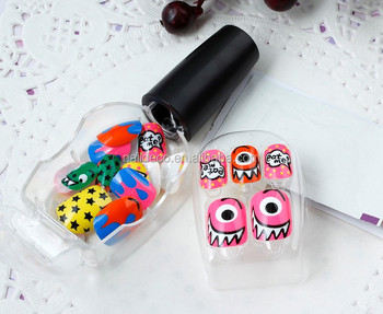Press On Finger False Nails Cartoon Design Sticker Adhesive Tab Tips