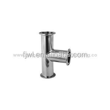 stainless steel tri clamped end sanitary reducer tee