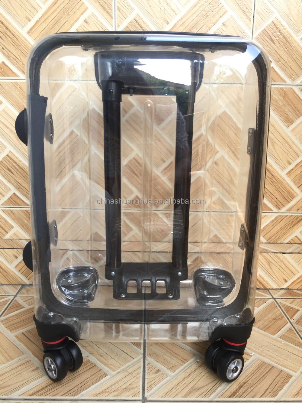 2015 Fashion Transparent Trolley Case Clear Pc Luggage