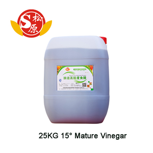 natural grain made organic fresh high acid vinegar 15 degree