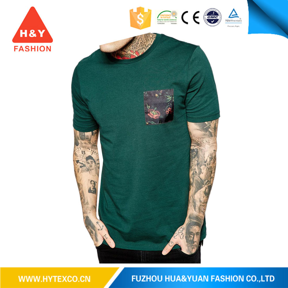 100 cotton cheap t shirts, mens printed t shirts, t shirt printed with chest pocket(7 years alibaba experience)