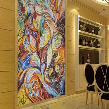Colorful Abstract Glass Wall Interior Decoration Abstract Mosaic Murals View Abstract Mosaic Murals Panda Mosaic Product Details From Foshan Panda