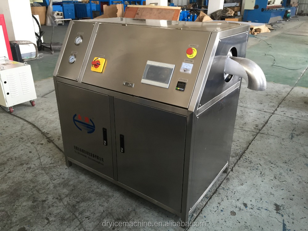 Dry ice pelletizer machine producing dry ice by Liquid CO2