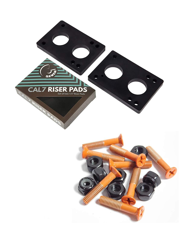 "Cal 7 1.5"" Hardware Orange+ 1/4 riser Pad"
