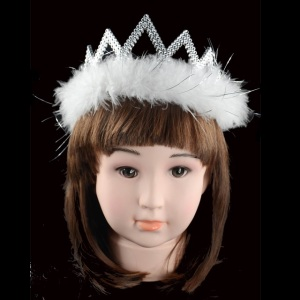 China Factory Cheap D-13 Free Sample Feather Crown For Decoration