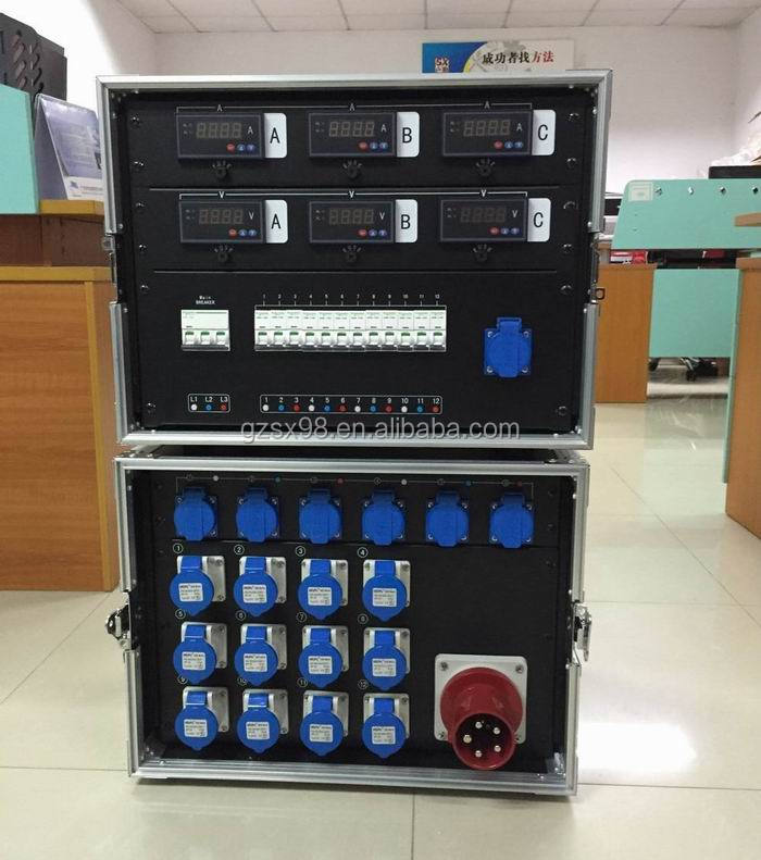electrical supply power meter box with main switch breaker