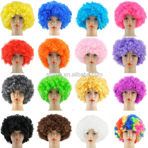 Curly Afro Fancy Dress Wigs Funky Disco Clown Style Mens Ladies Costume Hair SA026