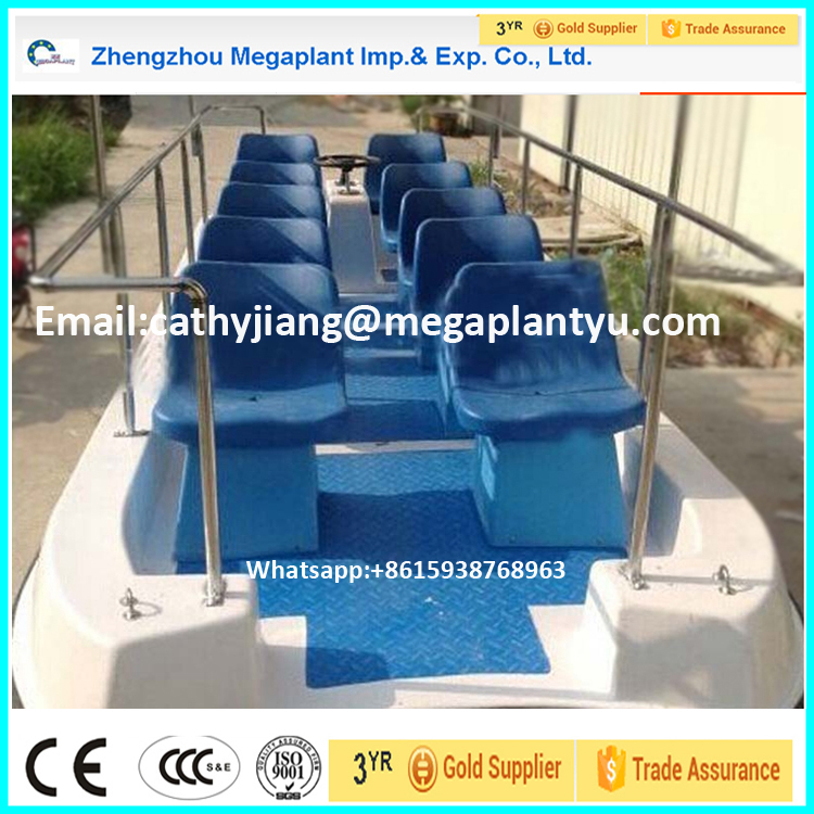 8-10 Passenger Fiberglass Electric Water Taxi Boat